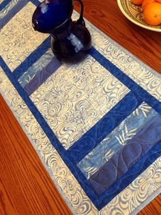 20% off all table runners in my etsy shop through the end of January Blue White  Batik Silk Table Runner by derstinedesigns on Etsy https://www.etsy.com/listing/218639015/blue-white-batik-silk-table-runner