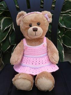 Ravelry: Teddy bear crochet dress and headband pattern by linda Mary