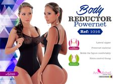 Body Reductor with adjustable & removable straps. This body reductor is made out off Power net material it is completely seamless, instantly corrects Postur