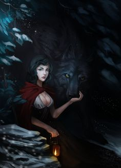 Little Red Riding Hood - Character art by Marilyn