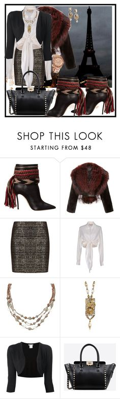"""PONY TAIL BOOTS"" by gigiwhoot ❤ liked on Polyvore featuring Dsquared2, J. Mendel, BCBGMAXAZRIA, Michael Kors, One Off, Oscar de la Renta, Valentino and Dolce&Gabbana"