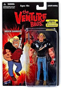 Venture Bros. Brock Bloody Black Shirt Action Figure Convention Exclusive: Amazon.co.uk: Toys & Games