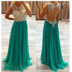 long prom dress,green prom dress,party prom dress,backless prom
