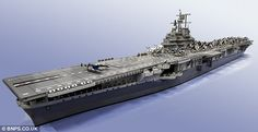 Ruler of the waves: The completed model is estimated to be worth £15,000 - but can the Ministry of Defence afford it?