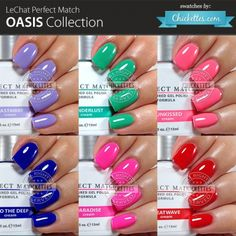 LeChat Perfect Match - Oasis Collection - swatches by Chickettes.com