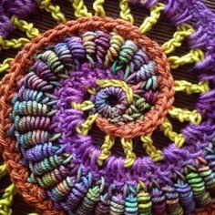 손뜨개ㅣHow to Crochet a Flower: Bullion Stitch Flower..............♥ : 네이버 블로그