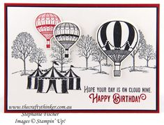 #thecraftythinker, Lift Me Up, Carousel Birthday, Lovely As A Tree, Stampin' Up!, #crazycraftersbloghop