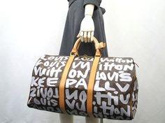Louis Vuitton Keepall 50 Boston Argent Travel Bag.
