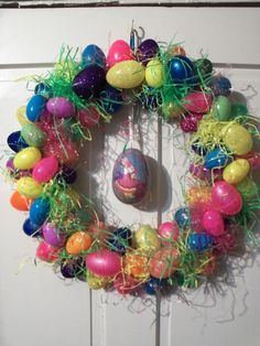 My Easter Egg wreath I just made :)