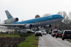 MD-11 at Amsterdam Schiphol. Bad landing?