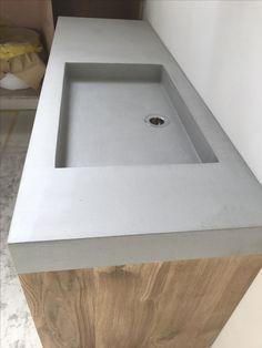 Concrete Countertops Bathroom, Modern Bathroom, Sink, Wellness, Home Decor, Sink Tops, Funky Bathroom, Vessel Sink, Decoration Home