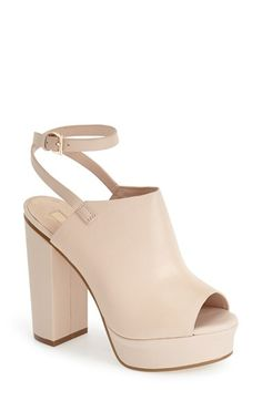 Topshop 'Sagittarius' Leather Ankle Strap Open Toe Platform Sandal (Women) available at #Nordstrom