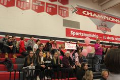 Support from the Lancaster High School Bald for Bucks fan section!