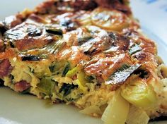Recipe clafoutis leeks and bacon by Valérie: To change a little I want to Clafoutis Recipes, Tart Recipes, Pizza Recipes, Chicken Recipes, Quiches, Chicken Tikka Masala Rezept, Clean Eating Recipes, Healthy Recipes, Food Network
