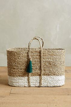 Balinese Tassel Baskets - anthropologie.com