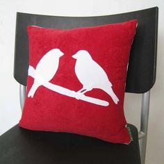 Love Birds  Red Pillow