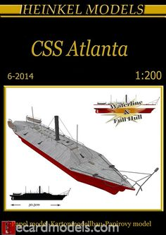 1/200 CSS Atlanta Ironclad Paper Model