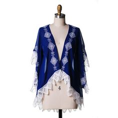 Short Sleeve Cardigan Cobalt, $59, now featured on Fab.