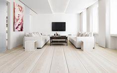 Deluxe Furniture Modern Living Room Solid Wood Flooring Idea