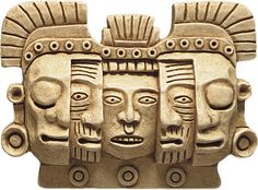 Mayan Mask of Death and Rebirth Wall Relief $84.95 at BazaarsRUs.com