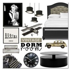 """""""Dorm Room Style: Vintage"""" by mada-malureanu ❤ liked on Polyvore featuring interior, interiors, interior design, home, home decor, interior decorating, NeXtime, Pier 1 Imports, Pottery Barn and Worlds Away"""