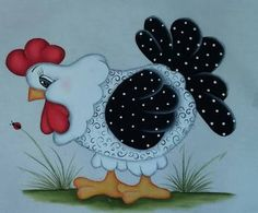 Discover thousands of images about Hhj Quilt Block Patterns, Applique Patterns, Applique Quilts, Quilt Blocks, Rooster Painting, Tole Painting, Fabric Painting, Chicken Crafts, Chicken Art