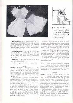 Free Knitting Pattern – For The Junior Miss Stitchcraft Booklet – Vintage Knitting Pattern Archive Vintage Knitting, Vintage Crochet, Vintage Sewing Patterns, Knitting Stitches, Knitting Patterns, Crochet Patterns, Knitting Ideas, Pin Up Models, 1940s Fashion