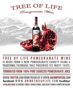 Pomegranate wine is wonderful. Pomegranate Varieties, Pomegranate Juice, Wine And Spirits, Tree Of Life, Whiskey Bottle, Wines, Whole Food Recipes, Food And Drink, Pure Products