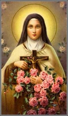 St+Therese | ... by associating it with a flower, a saint and a scripture verse