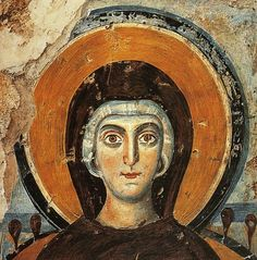 a fresco from roman catacomb