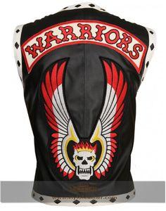 Warriors  Movie Black Biker Distressed Celebrity leather Vest get styloleather.com on special discount offer
