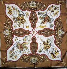 """Hermes Fuchsia Silk Twill Julia Abadie """"Poesie Persane"""" 90cm Scarf #Hermes"""