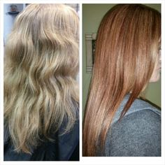 Strawberry blonde to rosegold