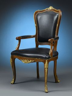 This quintessential Louis XV chair is the epitome of stately sophistication. ~ M.S. Rau Antiques
