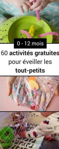 60 activités gratuites pour éveiller bébé. #activité #bébé #jeux #astuces #apprentissage #aufeminin #Montessori
