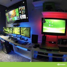 ultimate setup powered by nvidia #Geek