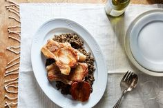 Roasted Pork Chops with Apples & Lentils recipe on Food52