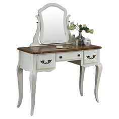 The perfect addition to your powder room or master suite, this lovely vanity showcases chic cabriole legs and a white finish.   Pro...