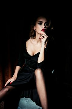 Lena Hoschek Fall Winter 2014/15 Femme Totale | Vamp Dress in Black