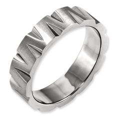 Titanium Cross Religious Design Flat 8mm Brushed Wedding Ring Band Size 10.50 Relieving Rheumatism Engagement & Wedding