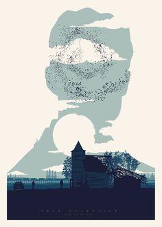 """Proyecto de ilustraciones basadas en cada uno de los episodios de la serie de la HBO """"True Detective""""."""