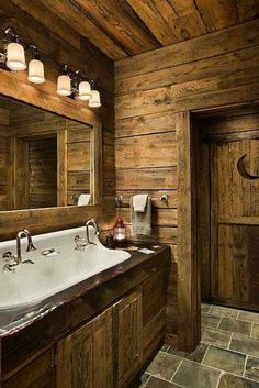 Bathroom Remodeling Must-Haves -- Rustic bathroom with all the details