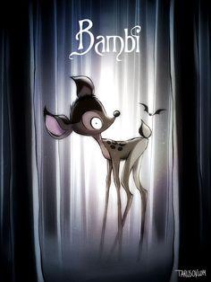 Andrew Tarusov se inspiró en los clásicos de Disney, para crear una serie de ilustraciones donde reimagina el aspecto que tendrían los personajes nuestras películas favoritas de la infancia si hubieran sido dirigidas por Tim Burton