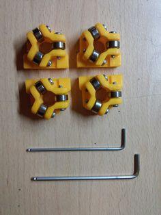 Bearing block for 8 mm shaft, 3 x bearings at 120 degrees by good_idea - Thingiverse 3d Printer Designs, 3d Printer Projects, Cnc Projects, Useful 3d Prints, 3d Printer Models, Computer Diy, Cool New Gadgets, Cnc Software, Engineering Tools