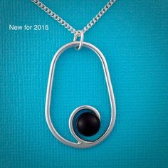 Oval with Onyx Pendant by ThatSilverTouch on Etsy