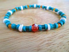 Men's Spiritual Minimalist Bracelet with African by tocijewelry, $38.00