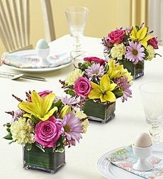 Can You Grow Your Easter Lily Outdoors? Easter Flower ArrangementsEaster  CenterpieceFlower ...