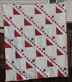 Antique 1800's Red and White Calico Quilt | eBay, whisper-hill