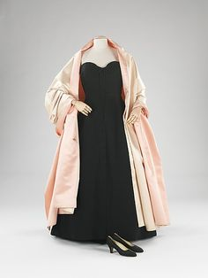 Ensemble, Evening  House of Dior  (French, founded 1947)  Designer: Christian Dior (French, 1905–1957) Designer: (c, d) Salvatore Ferragamo (Italian, founded 1929) Date: fall/winter 1954