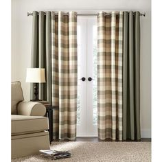Carter' Collection Unlined Grommet Panel - Curtain for $27.99